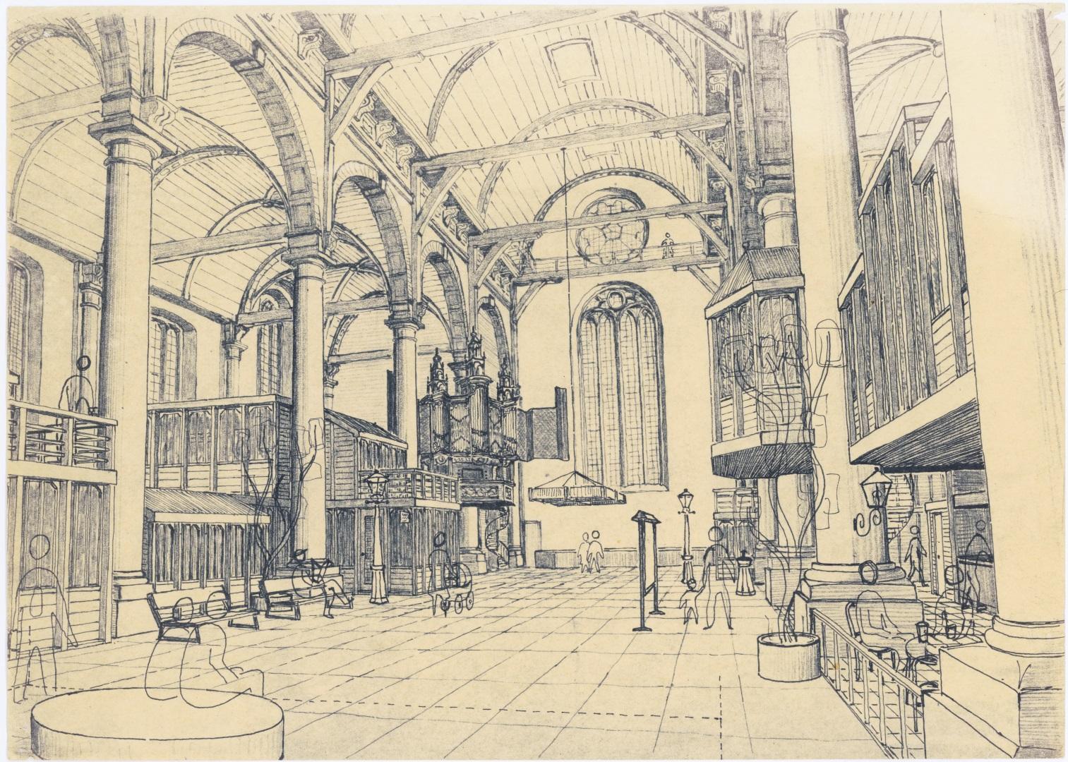 Schetsontwerp interieur Zuiderkerk